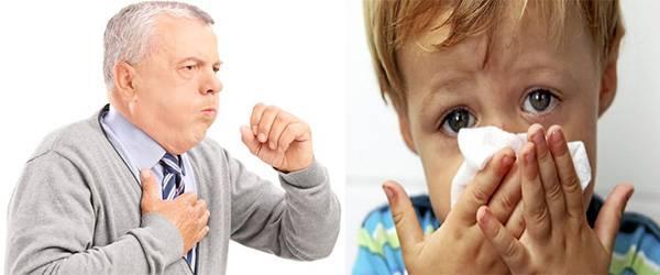 кашель и насморк при аллергии на пыль