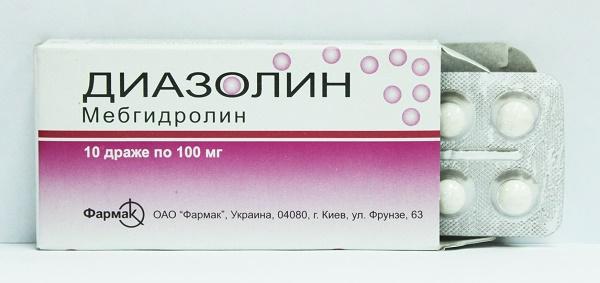 Диазолин от температуры при аллергии