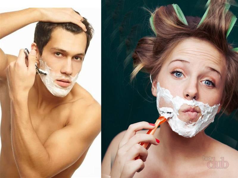 """Если вы предпочитаете сбривать на лице лишнее, то не забудьте о том, что станок должен быть острым, а бритье не """"на сухую"""""""