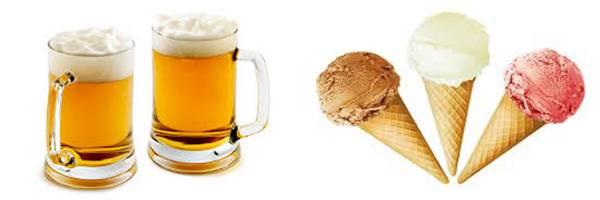 пиво и мороженое