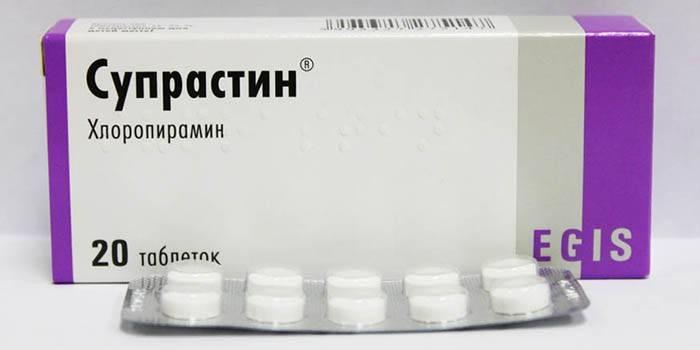 Упаковка таблеток Супрастин