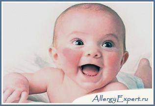 Проявление аллергии у малыша