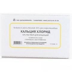 Кальция хлорид в ампулах