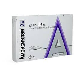 Как проходит лечение ангины антибиотиком Амоксиклав
