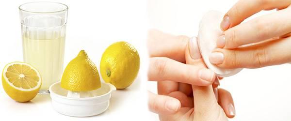 сок свежего лимона для ногтей