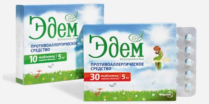 Таблетки от сезонной аллергии - Эдем