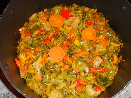 Тушенные овощи