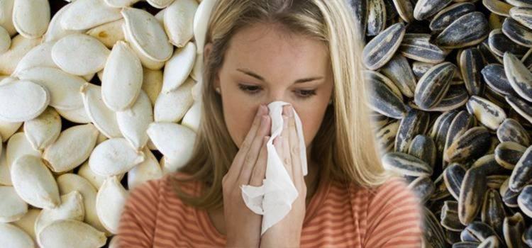 Аллергия горла на семечки