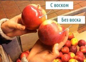 Магазинные плоды с воском и без