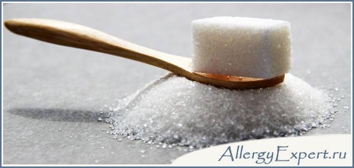 может ли быть аллергия на сахар