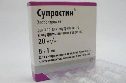 инъекция супрастина при аллергии