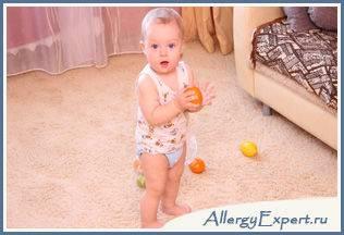 аллергия на апельсины симптомы