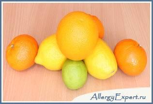 аллергия на цитрусовые лечение